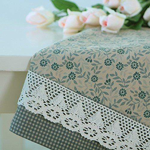 Imperméable nappe Nappe en tissu floral pastoral Nappe en maille de dentelle Nappe rectangulaire (2 couleurs en option) (taille facultative) pour dîner ( Couleur : B , taille : 130*180cm )