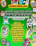 ECUADOR Japón daimon yokai libro de colorear monstruos míticos espíritus sobrenaturales folclore coleccionable dibujos de arte creativo fiesta de ... You Color? Series  by Artist Grace Divine