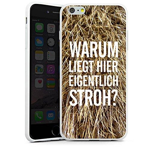 Apple iPhone X Silikon Hülle Case Schutzhülle Stroh Lustig Humor Silikon Case weiß