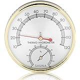 Haofy 2 en 1 Thermomètre Hygromètre de Salle de Sauna, Mètre Celsius Moniteur de Humidité et Température Intérieur avec Cadra