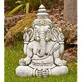 Large Garden Ornament   Ganesh Stone Buddha Statue