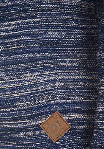 SOLID Mervin Herren Strickjacke Cardigan Grobstrick mit Schalkragen aus 100% Baumwolle Meliert Insignia Blue