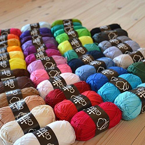 Next Yarns Cotton 125 100% Baumwolle Farbset Prisma aus 40 Farben (Prisma Garn)