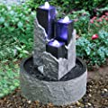 BERMUDA - Three Towers Stone Effect Garden Water Feature - Granite Effect from WATSONS