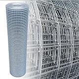 Rotolo di rete zincata per protezione uccelli /voliera / gabbia Lunghezza 10 m Altezza 50cm fori 25x25 mm Diametro filo 2,1 mm