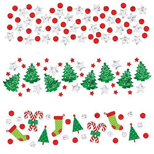 Value Pack Cut Outs (Amscan International 36014434G Weihnachten Konfetti Value Pack)