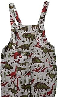 Run and Fly Grey Sloth Print Cotton Twill Dungarees Overalls 8 10 12 14 16 18