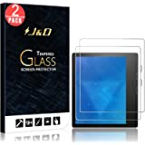 J&D Compatible for Amazon All-New Kindle Oasis 2017 Screen Protector/All-New Kindle Oasis 2019 Glass Screen Protector (2…
