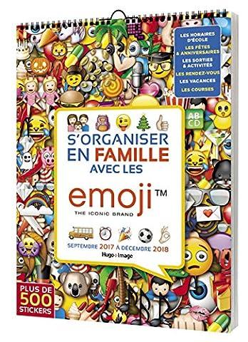 Calendrier Septembre - S'organiser en famille avec les Emoji Septembre