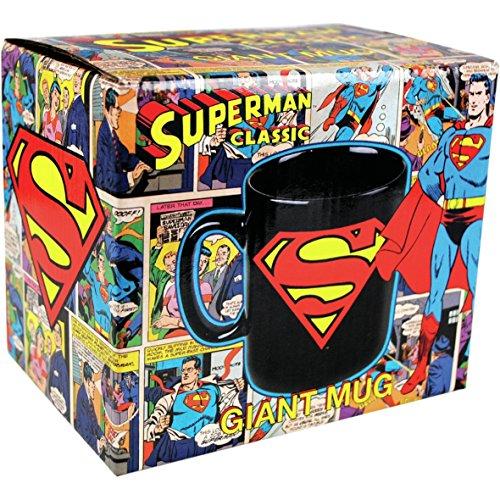 perman XXL Tasse Riesentasse ca 750ml - Superman Logo - verpackt in einer stabilen Geschenkbox (Arkham Knight Harley Quinn Kostüme)