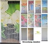 Bambusvorhang Türvorhang, Insektenschutzvorhang, 90cm x 200cm mit Aufhängeleiste, Innen und außen, mehrere Modelle, von MadeInNature® (Modèle 12 Zen)