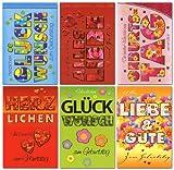 50 Geburtstagskarten Kleeblatt Blume Herz Grußkarten Glückwunschkarten 51-6460