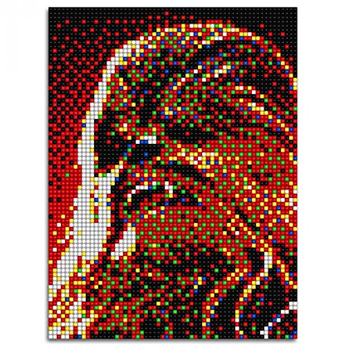Quercetti Pixel Art 4 Q0847–Cuadro pixelado, diseño de Chewbacca, con 6400piezas