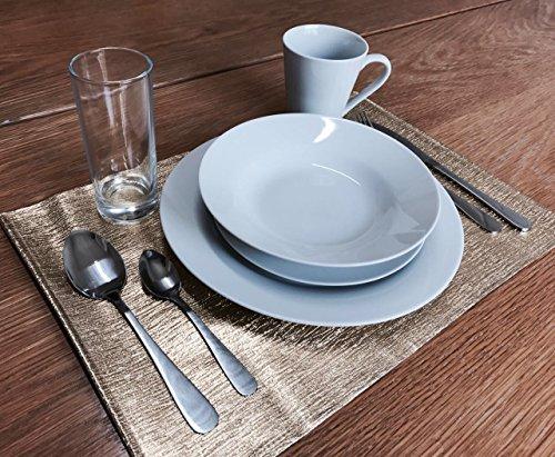 Etna - Service de table complet 54 pièces avec couverts et verres pour 6 personnes