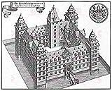 MAP MERIAN 1655 JOHANNESBURG CASTLE ASCHAFFENBURG REPLICA
