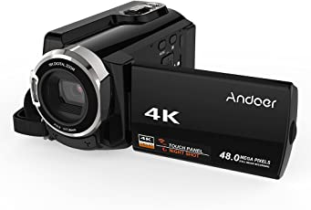 Andoer HDV-534K 4K 48MP WiFi Videocamera digitale 1080P Full HD Novatek 96660 Chip 3inch capacitivo Touchscreen IR Infrarossi Vista notturna Supporto 16X Zoom Face Detect