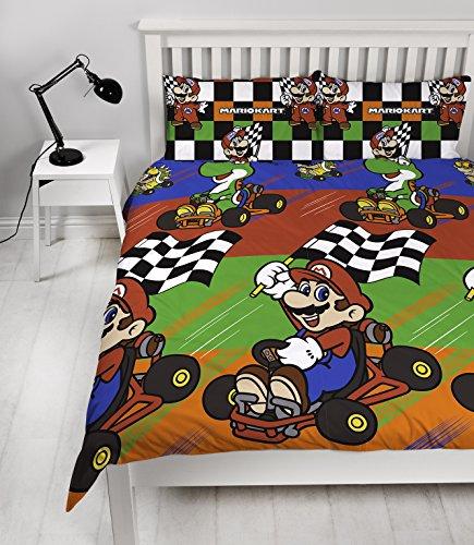 Edredon De Mario Bros.Nintendo Mario Champs Double Duvet Set Repeat Print Design Buy