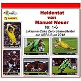 PANINI - UEFA EURO 2012 - HELDENTAT von MANUEL NEUER - Nr. 1 - Nr. 6 Sammelbilder - Alle 6 Sticker komplett - NEU by Coke Zero Panini