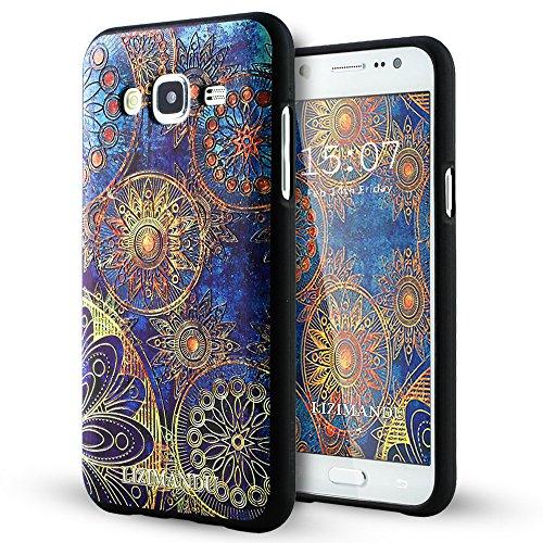 Samsung Galaxy J5 Funda,Lizimandu 3D Patrón Protectiva Carcasa de Silicona Gel TPU estrecha Case Cover Para galaxy j5(Flor Azul/Blue Flower)