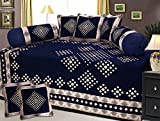 #10: RpX Chenille Diwan Set With Single Bedsheet , 5 Cushion Covers and 2 Bolster