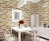 papel pintado 3D piedra ladrillo ladrillo pared salón - Best Reviews Guide