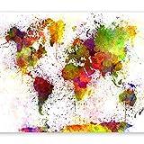 murando - Fototapete 200x140 cm - Vlies Tapete - Moderne Wanddeko - Design Tapete - Wandtapete - Wand Dekoration - Weltkarte k-B-0002-a-a