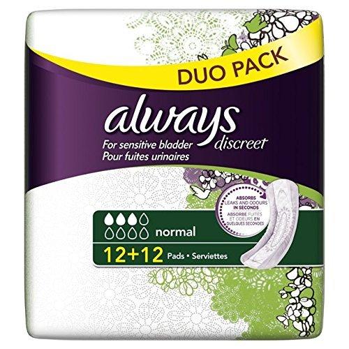 always-discreet-sensitive-bladder-normal-pads-value-24-per-pack