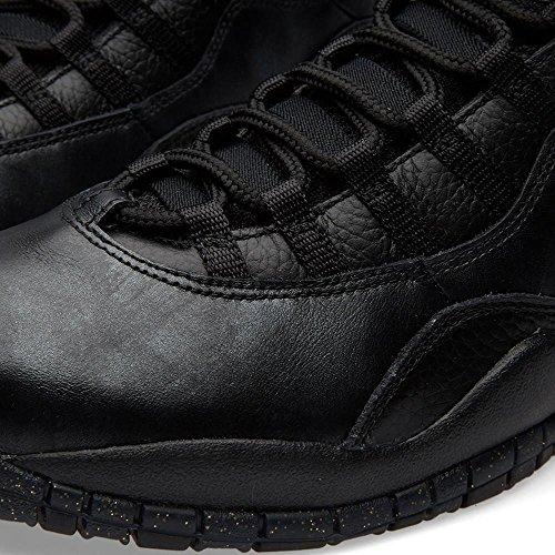 Nike Herren Air Jordan Retro 10 Basketballschuhe, Grau black, black-drk grey-mtllc gld