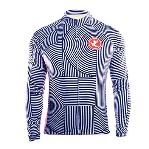 Uglyfrog Radsport Herren Shirt Lange Ärmel Sport & Freizeit Shirts Frühjahr-Herbst Pro Team MTB Radfahren Top Radshirt Atmungsaktiv Durchgehender Reißverschluss -
