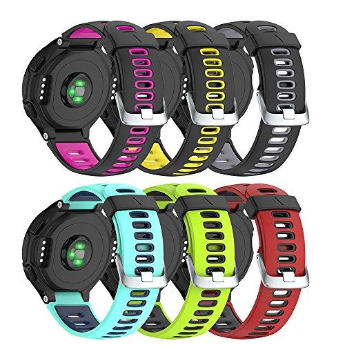 Notocity Bracelet de Remplacement pour Garmin Forerunner Montre Band de Remplacement Sangle Réglable Fitness Tracker Silicone Souple Bracelet de Sport Garmin Forerunner 230/235/620/630 / 735XT
