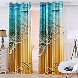 Waple Elegante und Luxuriöse Schlafzimmer Gardinen 3D-Meer Verdunkelungsvorhänge Für Wohnzimmer Schlafzimmer Fenster Neue Ankunft 260X260CM