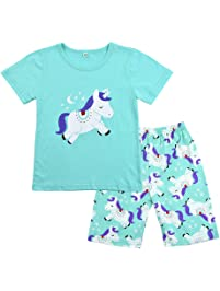 7204b43a69 Winzero Girls Christmas Pyjamas Set Cute Kids Long Sleeve Cotton Pjs Pajama  Sleepwear Tops Shirts