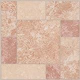 28x mattonelle di pavimento in vinile–Adesivo–Cucina/Bagno Adesivi–Nuovo–Peach geometrico–191