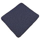 Sugarapple Wickelauflagenbezug dunkelblau mit weißen Sternen aus 100% Baumwolle für Wickelauflagen 85 x 75 cm, Öko-Tex Standard 100, Hergestellt in Deutschland