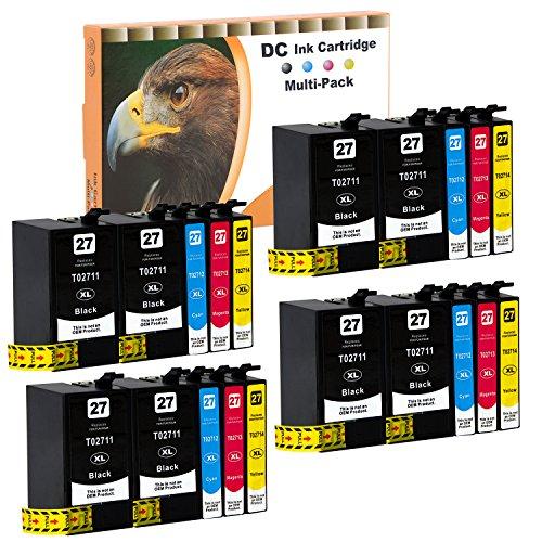 D&C 20er Set (B/C/M/Y) Tintenpatronen Druckerpatronen (nicht original) für Epson WorkForce WF-3600...