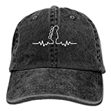 U-Only Baseball Cap Bass Guitar Heartbeat 1 Men Snapback Casquettes Adjustable Baseball Cap