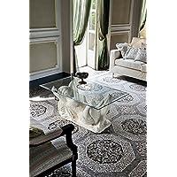Target, AFRODITE - Tavolino da salotto in ceramica e vetro Ovale Bisellato