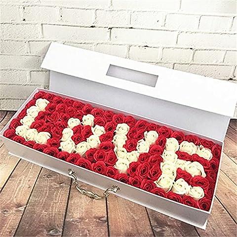 MIWANG Savon Rose Creative Simulation Boîte cadeau Bouquet, d