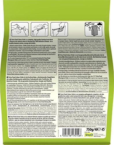 Tetra Pond Colour Sticks (Hauptfutter zur Entfaltung der natürlichen Farbenpracht aller Teichfische), 4 Liter Beutel - 5