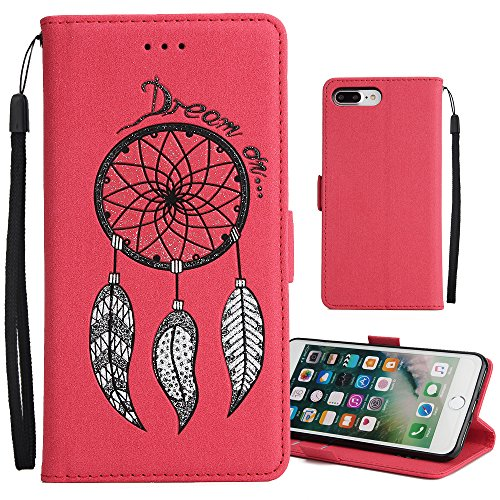 "iPhone 6s Plus Hülle,iPhone 6 Plus Case,MOONESS Schutzhülle PU Leder Flip Tasche Case mit Standfunktion und Karte Halter für iPhone6s Plus/iPhone6 Plus 5.5""(Rot) Rot1"