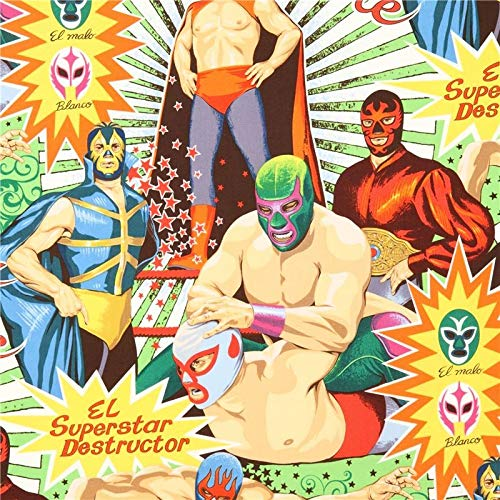 Wrestling Retro Stoff Alexander Henry Super Lucha Libre ()