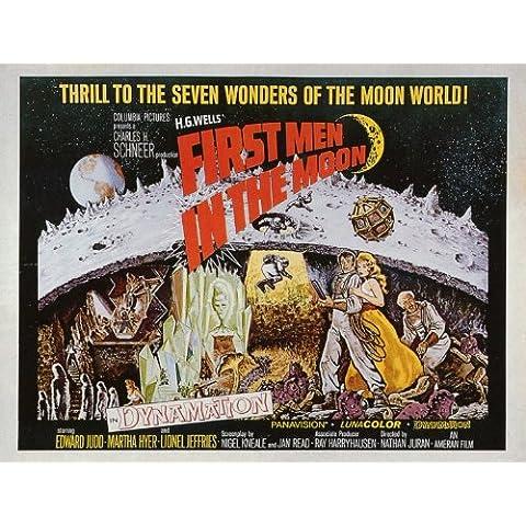 Los primeros en la luna Póster de película - 28 cm x 36 cm 11 x 14 Martha Hyer Edward Judd Lionel Jeffries Erik Chitty Peter