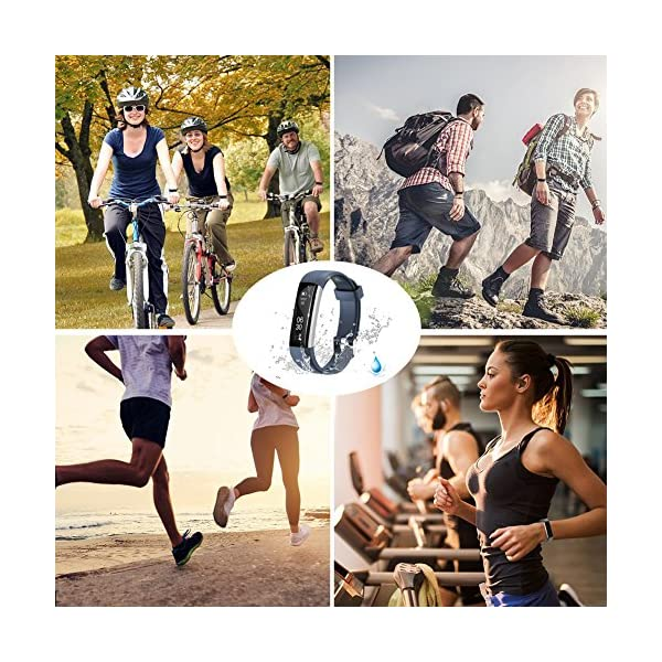 COOLEAD Fitness Tracker Pulsera Inteligente IP67 Waterproof Bluetooth Pulsera inteligente -Correa Libre 8