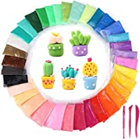 AKANAR Ultra Light Multi Colour Non-Toxic air Dry Modeling Magic Fluffy Foam Bouncing Clay Putty kit Play Dough for Kids…