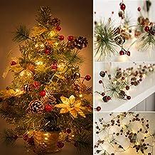2667cc65170a7 Beisoug Regalo Valentine árbol Cuerda Luces Hada Cono de Pino LED Guirnalda  Fiesta de Navidad Décors