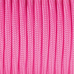 Paracord - Rollo de cordaje (2 mm x 5 m), color rosa