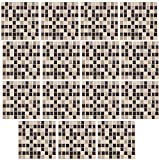 infactory Fliesenfolie Bad: Selbstklebende 3D-Mosaik-Glitzer-Fliesenaufkleber, 26 x 26cm, 15er-Set (Deko-Folie)