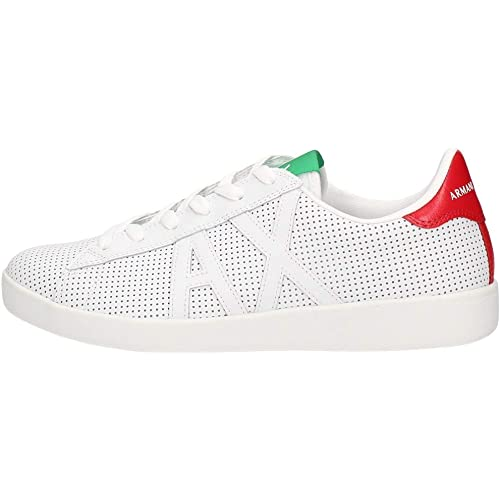 Armani exchange ax logo box sole sneakers, scarpe da ginnastica basse uomo XUX016XCC60