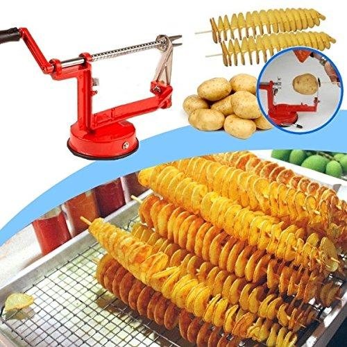 Cortador de patatas en forma de espiral de acero inoxidable pelador manual mws1075