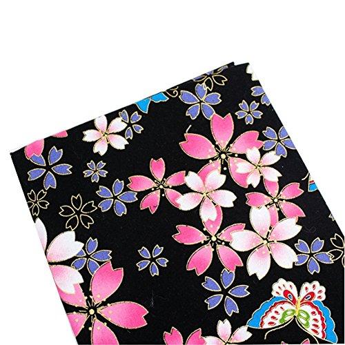 East Utopia Japanischen Stil DIY Stoff Tuch Material Blume Muster Kleidung - Mouchoir Kostüm